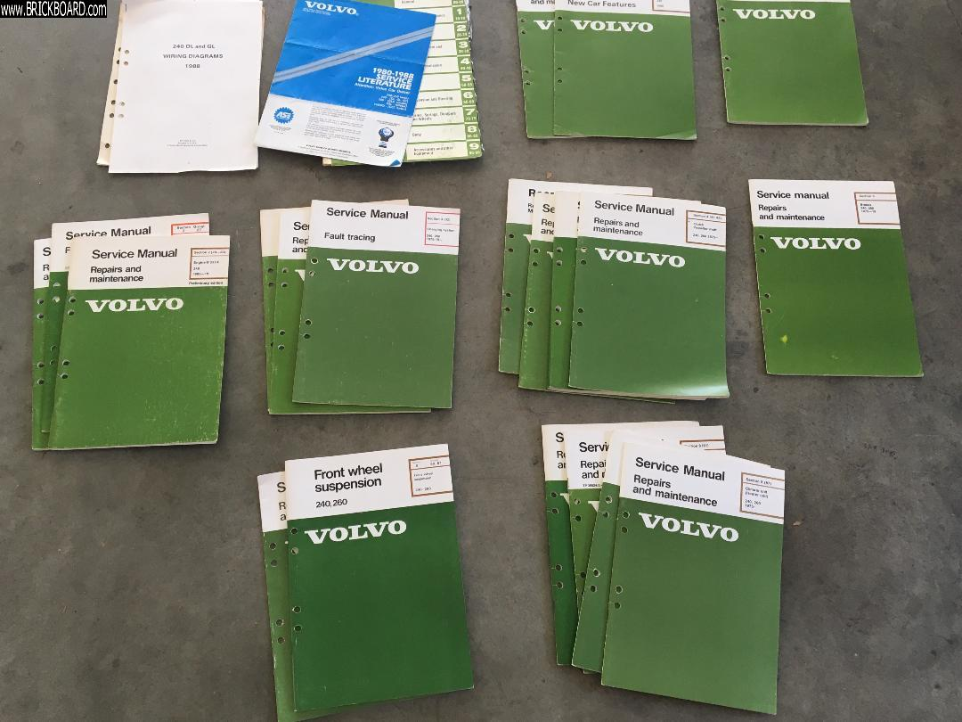 Volvo 200 -- Volvo greenbook service manuals for 1986-1988 240 DL GL
